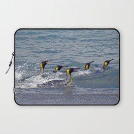 Swimming King Penguins Laptop Sleeve