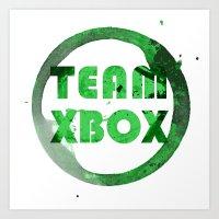 xbox Art Prints featuring Team XBox by Bradley Bailey
