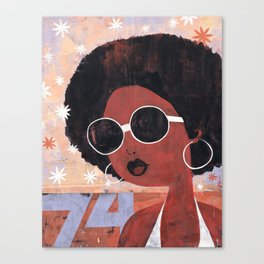 Afro 74 Canvas Print