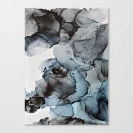 Smoke Show - Alcohol Ink Painting Canvas Print
