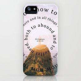 Phillipians 4 iPhone Case
