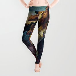 African American Masterpiece 'Arts of the South' by Thomas Hart Benton Leggings