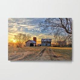 Kipling Barn Sunset 2 Metal Print