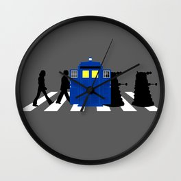 Abbey road daleks Wall Clock