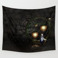 meditation Wall Tapestries featuring Meditation by Aoi Hikari Arts
