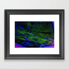 tile style Framed Art Print