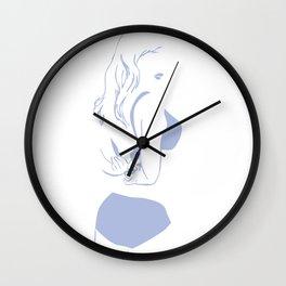 Monochrome Woman  Wall Clock