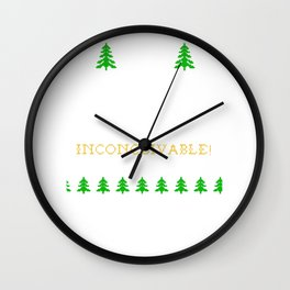 Ugly Christmas Trees Inconceivable Reindeer Wall Clock