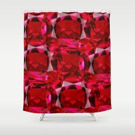 RUBY RED JULY GEM BIRTHSTONE  ART Shower Curtain
