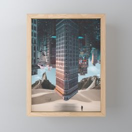 New York Upside Down Surreal Framed Mini Art Print