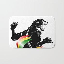 Panther Rastafarian Flag Bath Mat