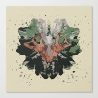 camouflage Canvas Prints featuring CAMOUFLAGE by GEEKY CREATOR