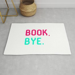 Book Bye School Librarian Quote Rug