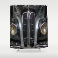 bmw Shower Curtains featuring Old BMW by Cozmic Photos