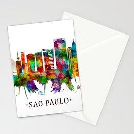 Sao Paulo Brazil Skyline Stationery Cards