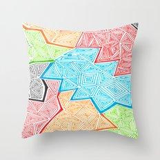 Trianglez Throw Pillow