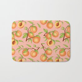 Practice What You Peach - Peaches on Pink Bath Mat