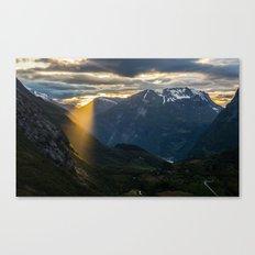 Geiranger Sun Canvas Print