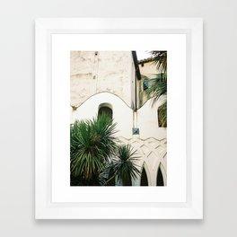 Italian architecture on the Amalfi coast   Travel photography Italy Europe Framed Art Print