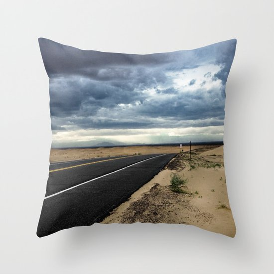 Road to Isolation Throw Pillow