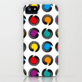 abstract modern pattern background with colorful grunge circles Poster iPhone Case