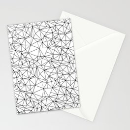Mosaic Triangles Repeat Seamless Pattern Black and White Stationery Cards