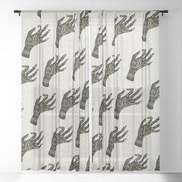 Palmistry Sheer Curtain