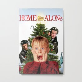 Home Alone - Christmas Metal Print