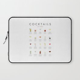 Cocktail Chart - Classic Cocktails Laptop Sleeve