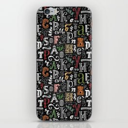 Сhalkboard lettering iPhone Skin