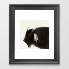 native buffalo Framed Art Print