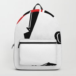 Mechanical Excavator Digger Retro Icon Backpack