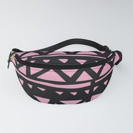 Mid-Century Modern Party-Time Pink Geometric Pattern Fanny Pack
