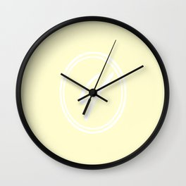 Monogram - Letter Y on Cream Yellow Background Wall Clock