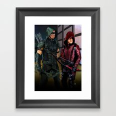 Arrowverse Framed Art Print