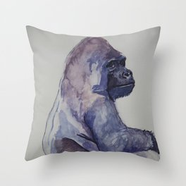 The Emperor - Gorilla Throw Pillow