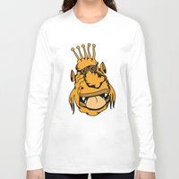 outer space Long Sleeve T-shirts featuring Weirdo from Outer Space by Adam Metzner