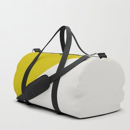 Ogre Yellow & Light Grey - oblique Duffle Bag