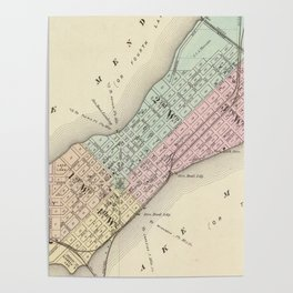 Vintage Map of Madison WI (1878) Poster