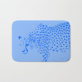Cheetah blues Bath Mat