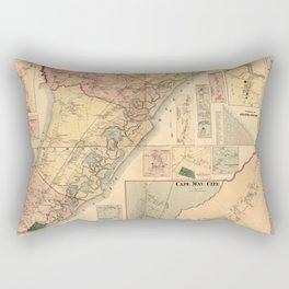 Map Of Cape May 1872 Rectangular Pillow