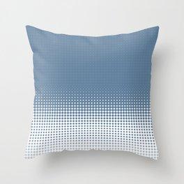 Blue Dot Ombre Fade to White Throw Pillow