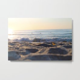 Surfers in the Morning Light Metal Print