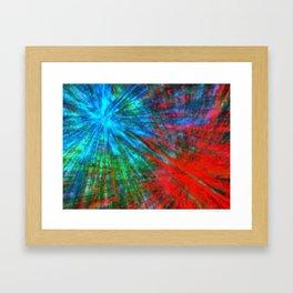 Abstract Big Bangs 001 Framed Art Print