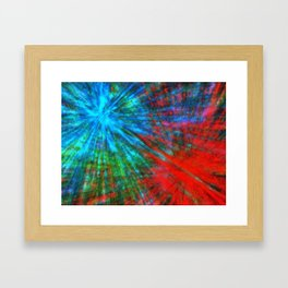Abstract Big Bangs 001 Framed Art Print