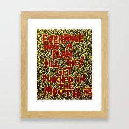Iron Mike says Framed Art Print