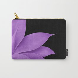 Agave Finesse #10 - Purple on Black #tropical #decor #art #society6 Carry-All Pouch