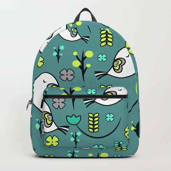 Cute birds and flowers Backpack