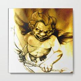 Evil Cupid (Yellow v. 2) Metal Print