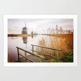 Kinderdijk- Windmills Art Print